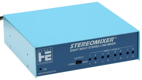 Henry Engineering StereoMixer 4 Stereo Channel Utility Mixer for Balanced Audio [Refurbished]-www.prostudioconnection.com