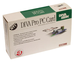 Eicon 305-196 DIVA Pro ISDN PC Card Modem Terminal Adapter Interface NEW IN BOX-www.prostudioconnection.com