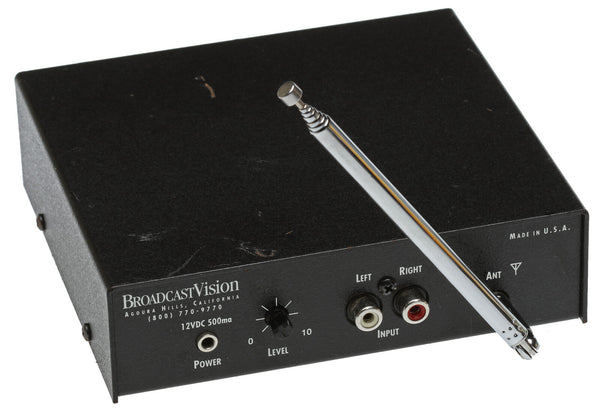 Broadcast Vision FM2001 Stereo Low Power FM Home/Bar/Gym TV Audio Transmitter [Used]-www.prostudioconnection.com