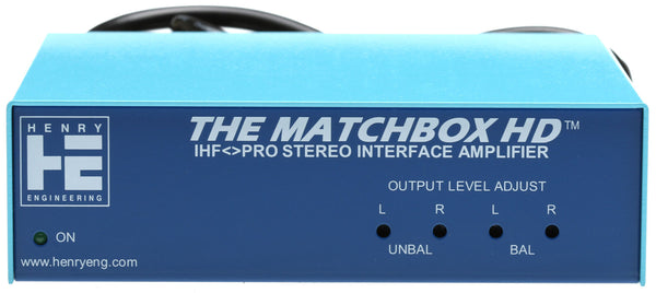 Henry Engineering Matchbox HD Unbalanced +4dB Balanced Audio Interface Converter-www.prostudioconnection.com