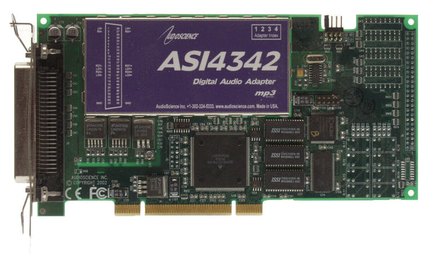 AudioScience ASI4342 Broadcast Multichannel XLR Balanced Audio Sound Card LPFM [Used]-www.prostudioconnection.com
