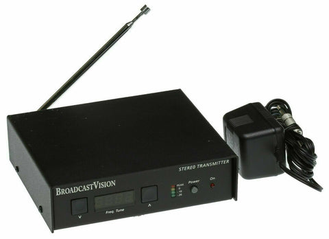 Broadcast Vision BV3001 Stereo Low Power FM Transmitter HiFi Audio Church Gym [Used]