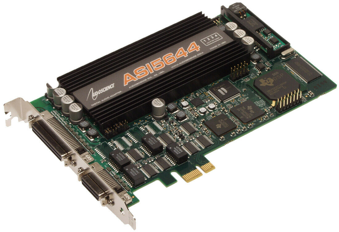 Audioscience ASI5644 Broadcast AES Digital & Balanced Analog Audio Sound Card [Refurbished]-www.prostudioconnection.com