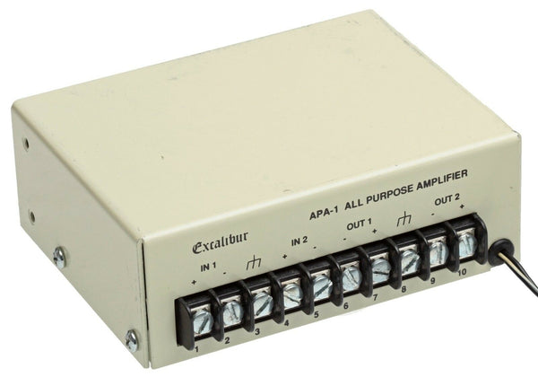 Excalibur APA-1 All Purpose Audio Utility Amplifier Stereo Dual Two Channel APA1 [Used]-www.prostudioconnection.com