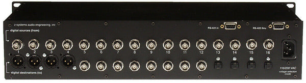 Z-Sys Z-16.16 Digital Detangler XLR BNC TOSlink SPDIF 4:8:4 Audio Router Switch [Refurbished]-www.prostudioconnection.com
