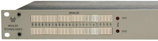 Wohler MLH-2 Channel LED VU Average/PPM Peak Balanced Audio Level Phase Meter 1U [Refurbished]-www.prostudioconnection.com