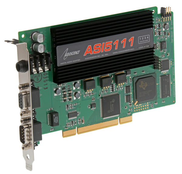 AudioScience ASI5111 F0 Broadcast Balanced Analog Sound Card w/ Mic Preamp [Refurbished]-www.prostudioconnection.com