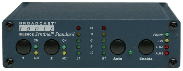 Broadcast Tools Silence Sentinel Standard Audio Signal Monitor Alarm Failover [Refurbished]-www.prostudioconnection.com