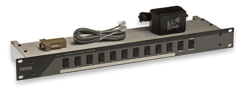 Broadcast Tools 10x1 Stereo Analog AES Digital Automation Switcher Router RS-232 [Refurbished]-www.prostudioconnection.com