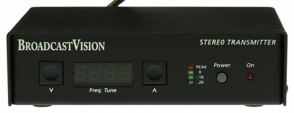 Broadcast Vision BV3001 Stereo Low Power FM Transmitter HiFi Audio Church Gym [Used]-www.prostudioconnection.com