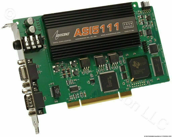 AudioScience ASI5111 F0 Mic Preamp + 2 XLR Cables AES Digital & Balanced Analog [Refurbished]-www.prostudioconnection.com