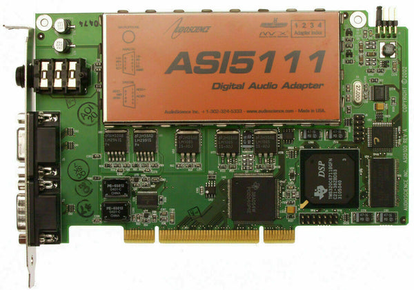 AudioScience ASI5111 Broadcast Balanced Analog Sound Card with Mic Preamp [Refurbished]-www.prostudioconnection.com