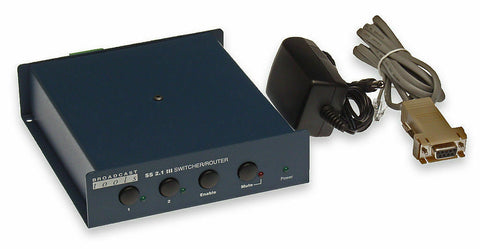 Broadcast Tools SS 2.1 III Stereo Balanced Audio Automation RS-232 Switcher-www.prostudioconnection.com