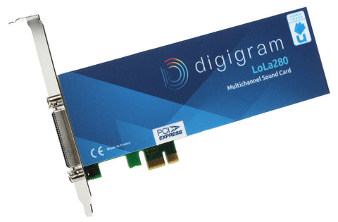 Digigram LoLa 280 Logging Skimmer 8 Channel HD Audio Recording PCIe x1 LP Card [Used]-www.prostudioconnection.com