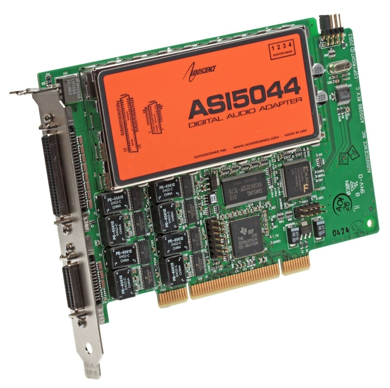 AudioScience ASI5044 AES Digital Audio Broadcast Sound Card w/ Balanced Analog [Refurbished]-www.prostudioconnection.com