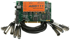 AudioScience ASI5111 Mic Preamp Card +2 XLR Cables AES Digital & Balanced Analog [Refurbished]-www.prostudioconnection.com