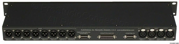 AudioScience BOB1024 Digital/Analog XLR Sound Card Breakout Box NEW WITH CABLES-www.prostudioconnection.com