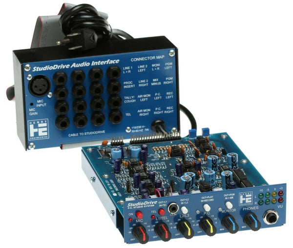"Henry Engineering StudioDrive 5.25"" Drive Bay Mic Mixer Preamp Headphone Monitor-www.prostudioconnection.com"