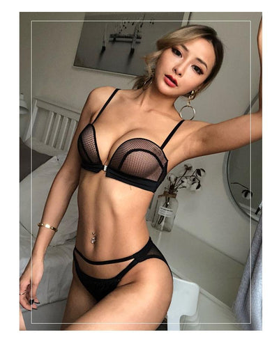 Naughty lingerie: silk or leather?