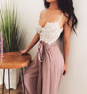 WOMEN'S ELEGANT LACE CROCHET CROP TOP