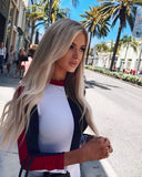 Cotton Bodycon Bodysuit Long Sleeve Contrast Color Sexy Bodysuit Women Skinny Bodysuit Elegant Jumpsuit Overalls
