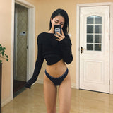 Sexy Seamless Women's G-String Thong Underpants Women Lingerie Low Waist Letter Panty Comfortable Briefs Underwear Tanga