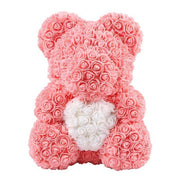 25/40cm Artificial Flowers Rose Bear Multicolor Foam Rose Teddy Bear Storage Box Girlfriend Valentines Day Gift Party Decoration