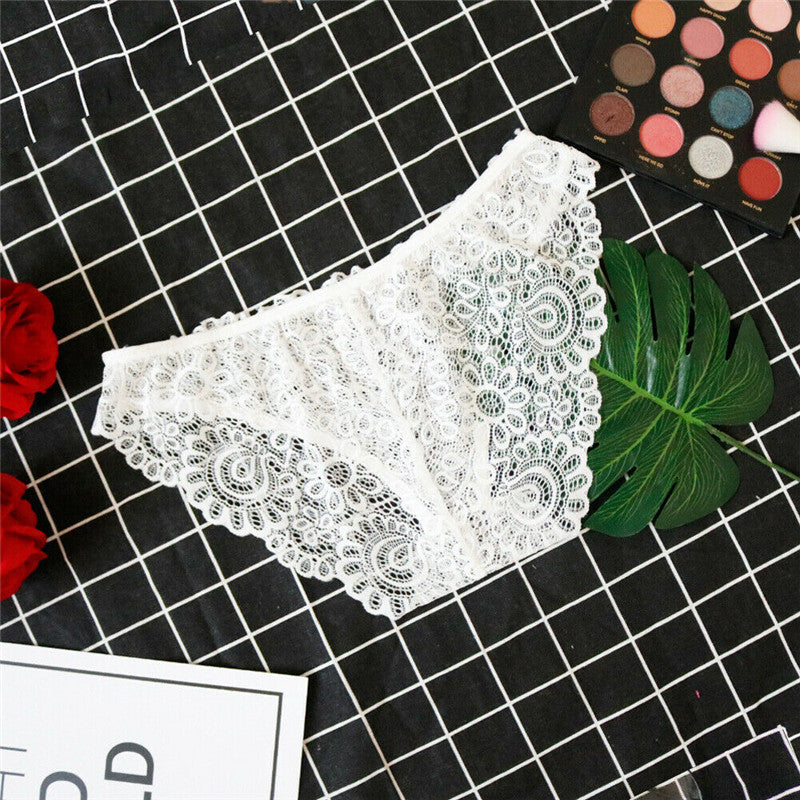 Women Sexy Lingerie Set white lace Bustier Bralette bra Top +G-string Lace Sleepwear Babydoll Underwear set loose plus size
