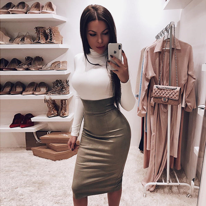 Casual turtleneck bodysuit long sleeve jumpsuits for women stretch body solid bodycon bodysuits autumn winter