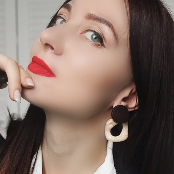 Fashion Big Resin Drop Earrings For Women 2019 New Acetic Acid Large Korea Square Earrings Trendy Wood Geometric Jewelry