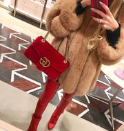 Factory Sales customized Any Color  Classic Fashion real Fox Fur coat luxury  Genuine Fox Fur jackets