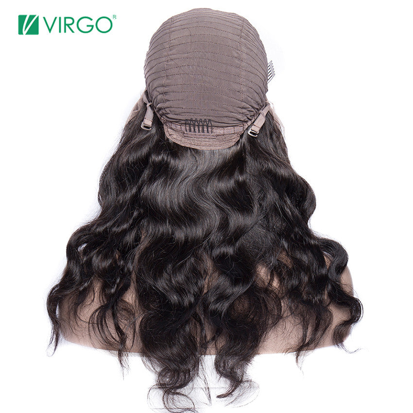 Virgo Hair 13X6 Transparent Lace Wigs Peruvian Lace Front Human Hair Wigs with Baby Hair Body Wave Wig for Black Women Remy Hair