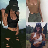 Womens Sexy Casual Slim Sleeveless Tank Tops Vest Solid Crop Top For Ladies Fitness Tight Bustier Vest Camis Women Clothing Tops