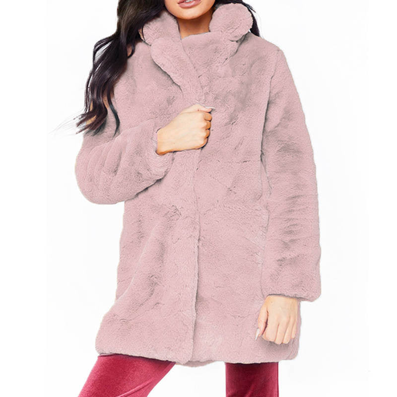 Winter Coats Women New Fashion Faux Fur Coat Women Casual Thick Warm Outerwear Fake Fur Jacket Chaquetas Mujer
