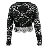 Women Blouses Lace Polyester Solid Long Sleeve O Neck Blouse Tops Lace Blouses Shirts