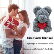 40cm rose Teddy Bear Flowers Wedding Decoration foam bear with Love Heart Rose Bear Crafts Valentines Day Gift for Girls