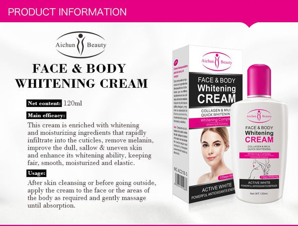Collagen Milk Bleaching Face Body Cream skin whitening Moisturizing Body Lotion skin lightening cream