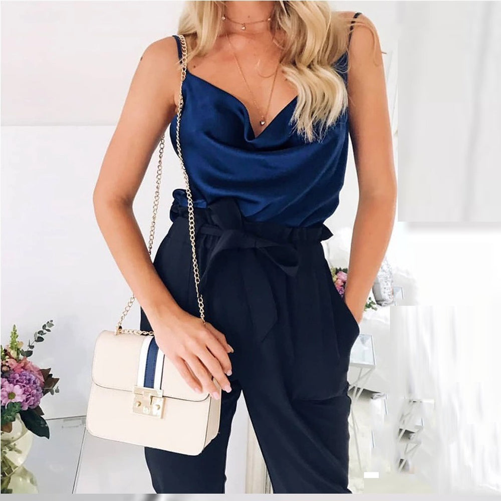 Satin Women Thin Wild Solid Camis Vest Women Tank Tops Female 2019 Summer Sexy Strap Basic Tops Chiffon Sleeveless Camisole
