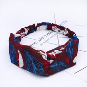 Bohemian Style Hairbands Print Headbands For Women Retro Cross Knot Turban Bandage Bandanas Elastic Hair Rope Hair Accessories