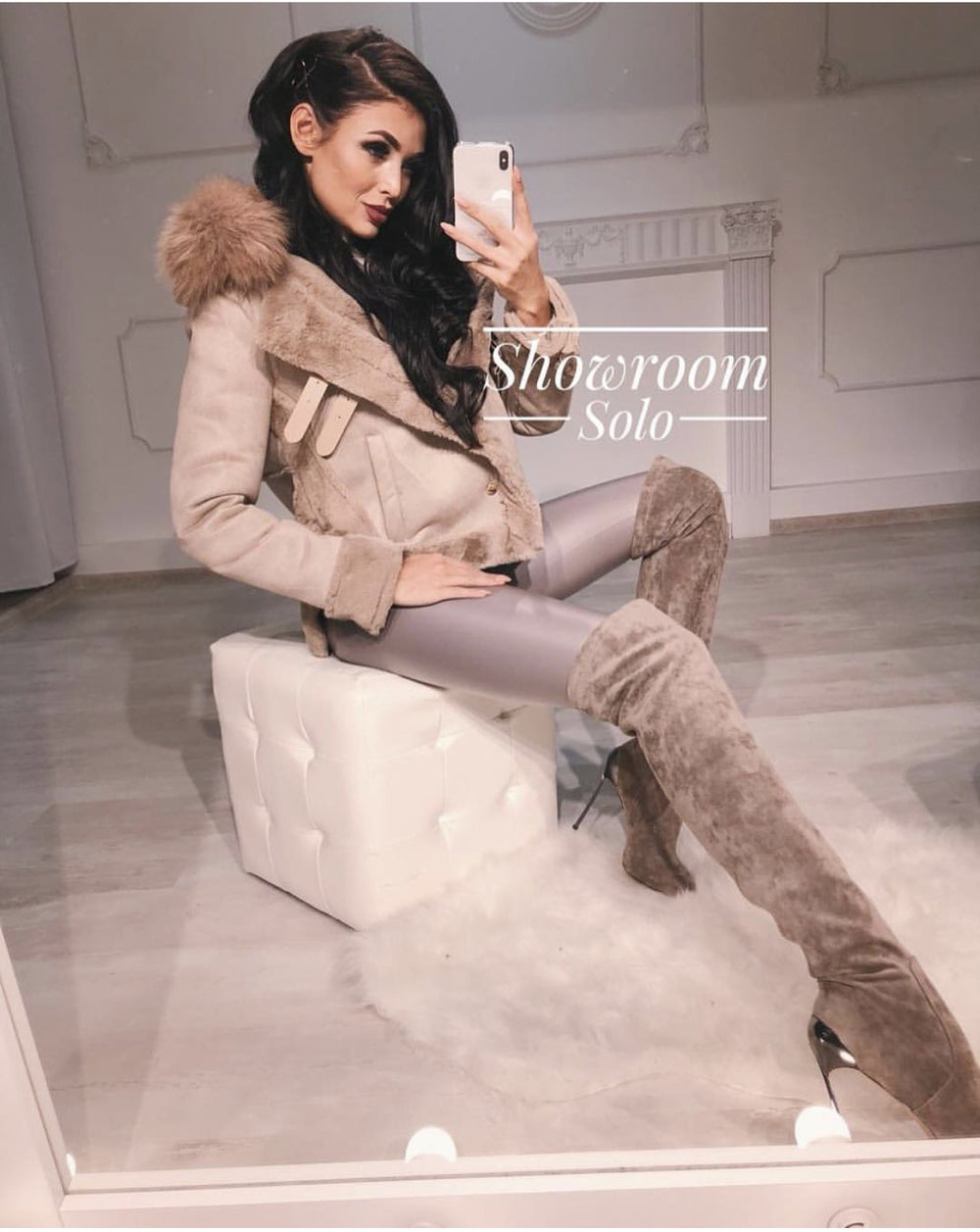 Winter Women Jacket Artificial Wool Leatherette Female Wadded Coat Warm Slim Fleece Thicken Mujer Jacket Fur Neck Women Top