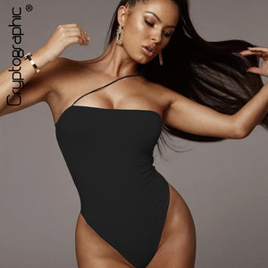 Overalls For Women Solid Sexy Sleeveless Backless Teddy Halter Slash Neck Skinny Bodysuit Female Romper