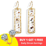 17KM Vintage Earrings  Geometric Shell Earrings For Women Girls BOHO Resin Drop Earrings Brincos Fashion Tortoise Jewelry