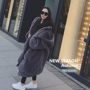 Try Everything Plus Size Faux Fur Coat Woman With Hood Black Long Faux Fur Jacket Women Winter Coat Oversized Hoodie Zipper 2019