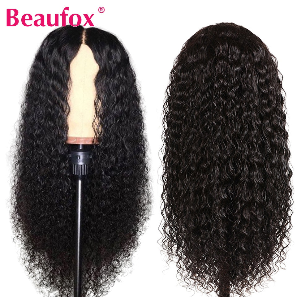 13x4 Brazilian Water Wave Lace Front Human Hair Wigs Front Lace Wigs With Baby Hair PrePlucked Natural Hairline Beaufox Remy150%