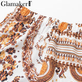 print sexy bandage belt playsuit Women autumn winter fashion short jumpsuit & romper Female party club overalls