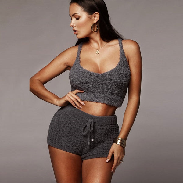 Knitted v neck sexy jumpsuit Women bodycon jumpsuits rompers Female elegant jumpsuit short playsuit overalls jump suit