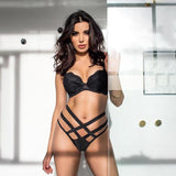 Sexy Bandage Hollow Out Underwear Set Women Lingerie 2 Piece Set Bra Thong 2019 New Fashion Female Bra and Panty Sets