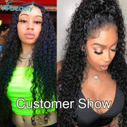 Curly Human Hair Wig 13x4 Lace Front Human Hair Wigs Remy Hair Brazilian 360 lace frontal wig For Women VIPbeauty 150 Density