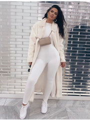 NewAsia Sexy Jumpsuits Women Celebrity Long Pants Long Sleeve Bodycon Rompers Womens Jumpsuit Winter Jump Suit White Overalls