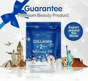 NEW Collagen Glutathione 2 in 1 Whitening Younger Britening Skin Reduce Acne